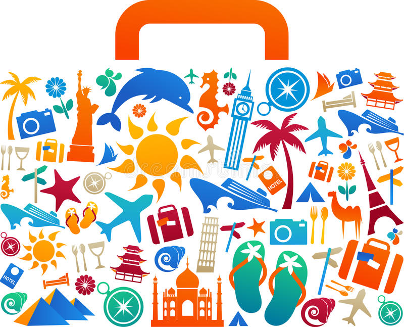 Travel suitcase - 2 vector illustration