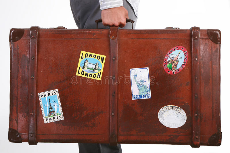Travel suitcase stock photos