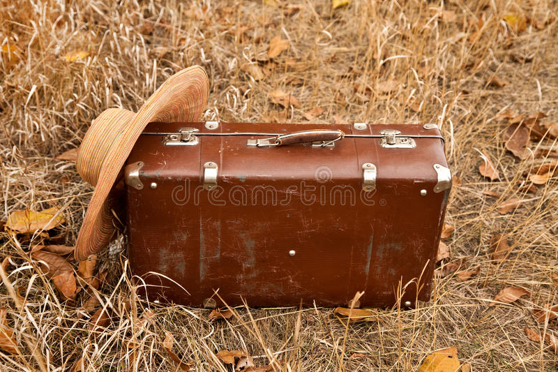 Download Travel suitcase and hat stock image. Image of brown, travel - 21901909