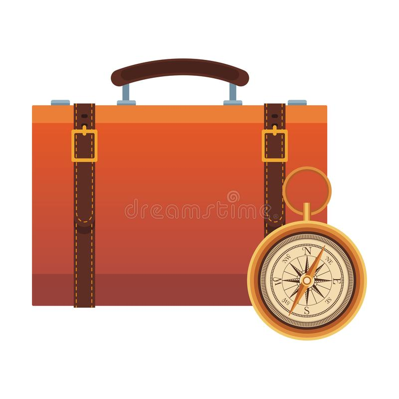 Travel suitcase icon vector illustration