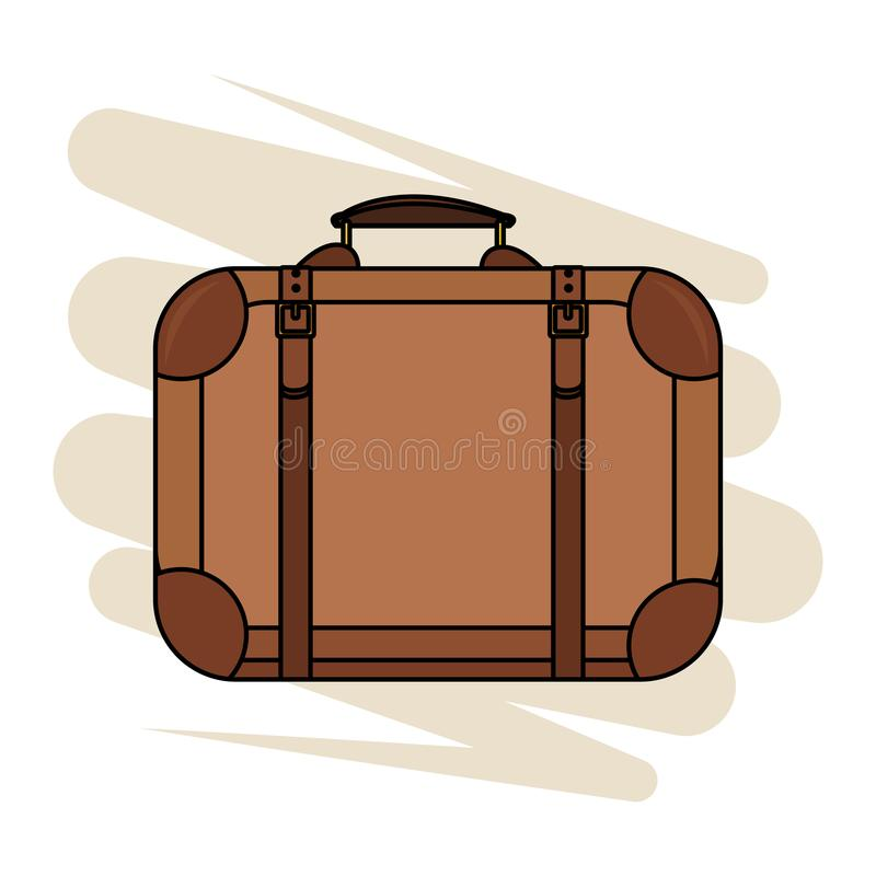 Travel suitcase icon. Isolated colorful vector illustration graphic design stock illustration