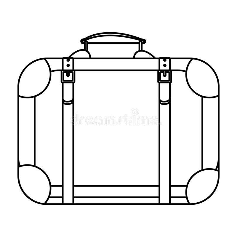 Travel suitcase icon. Isolated drawing vector illustration graphic design royalty free illustration