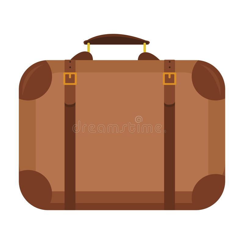 Travel suitcase icon. Isolates colorful in white background vector illustration graphic design vector illustration