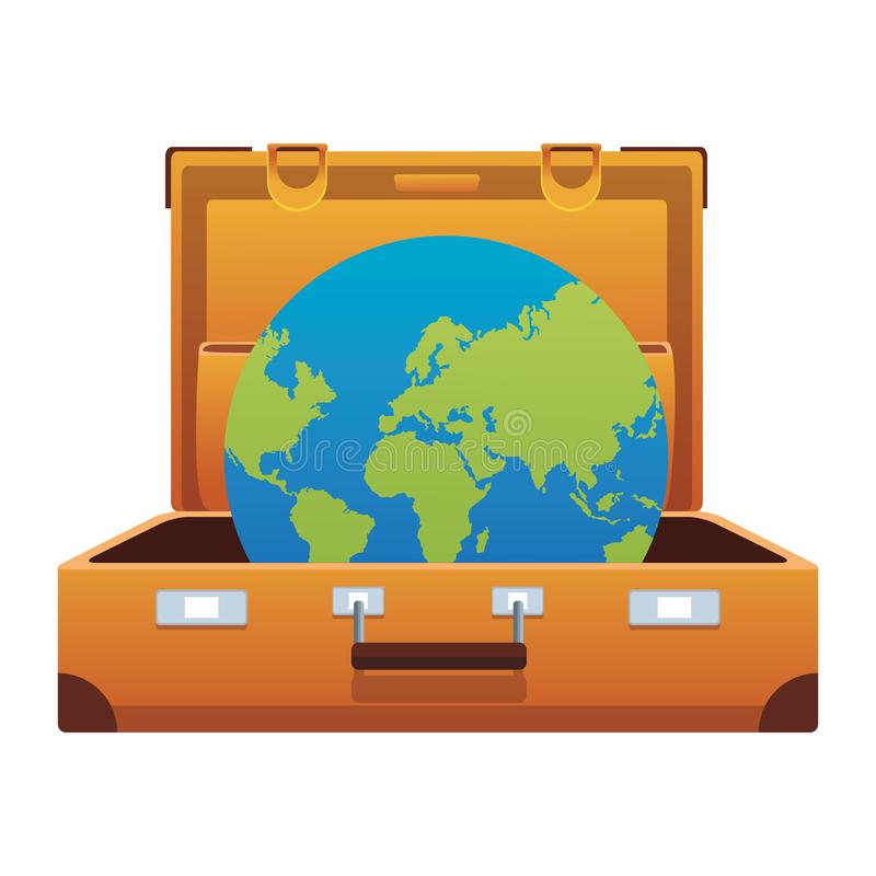 Travel suitcase icon with royalty free illustration