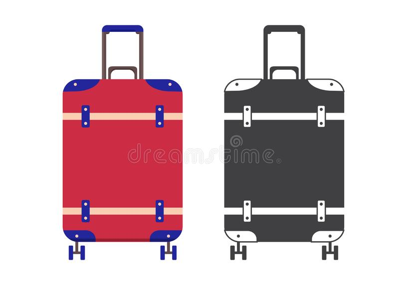 Travel Suitcase Icon stock illustration