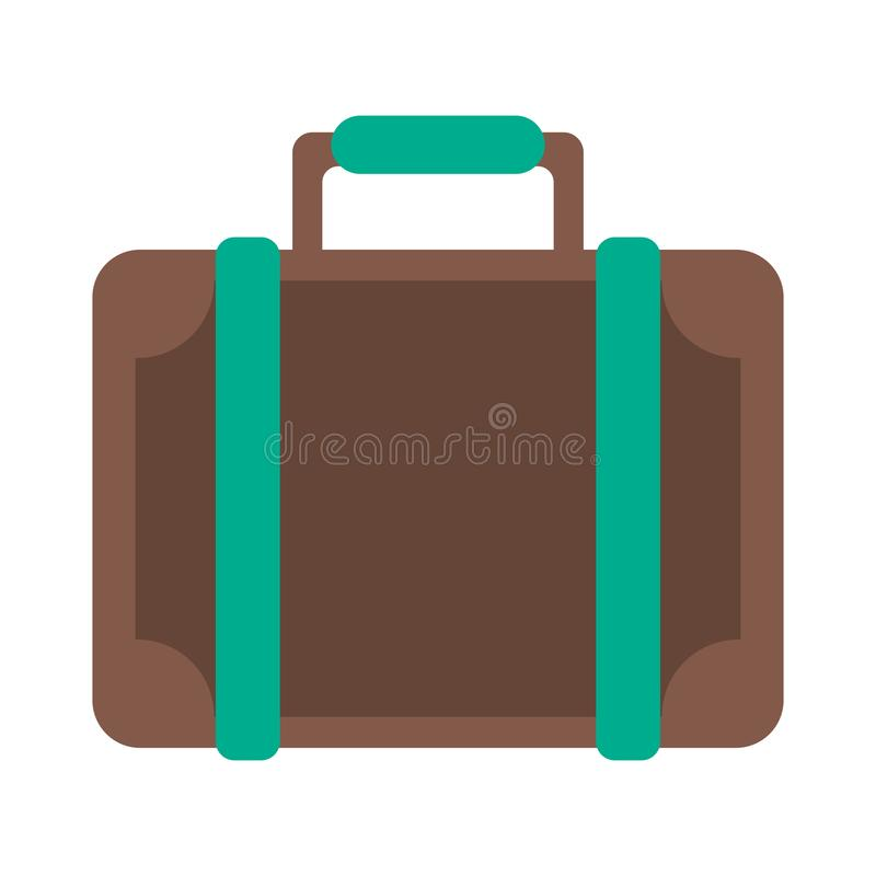 Travel suitcase symbol vector illustration