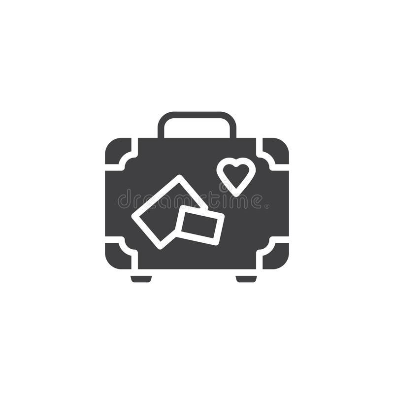 Travel suitcase vector icon vector illustration