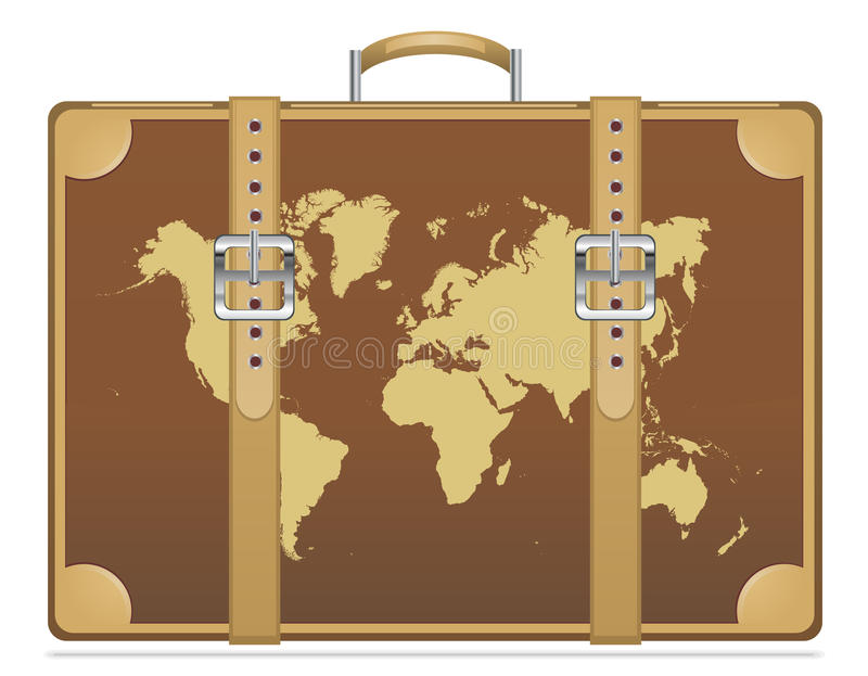 Travel suitcase with world map stock vector illustration of summer download travel suitcase with world map stock vector illustration of summer africa 34526473 gumiabroncs Image collections