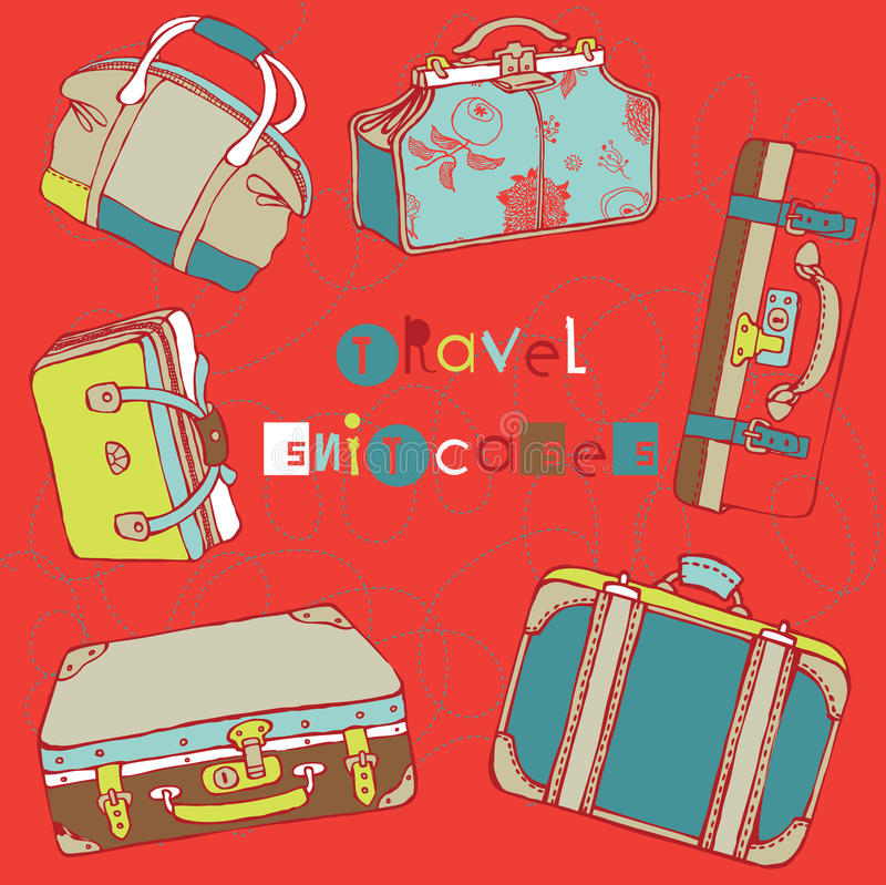 Download Travel suitcases stock vector. Illustration of leather - 16096978