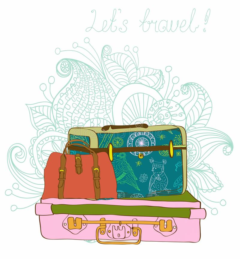 Download Travel Suitcases Background Stock Vector - Illustration: 27143057