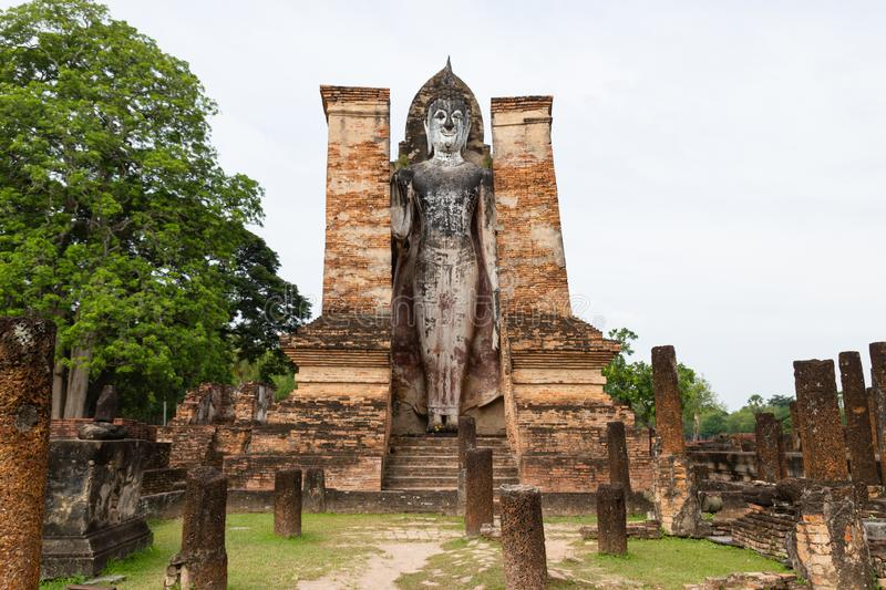 Travel Sukhothai Thailand, Wat Mahathat ancient capital of Sukhothai, Thailand. Sukhothai Historical Park is the UNESCO world heritage royalty free stock image