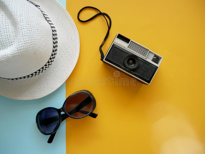 Travel summer holiday concept. stock images