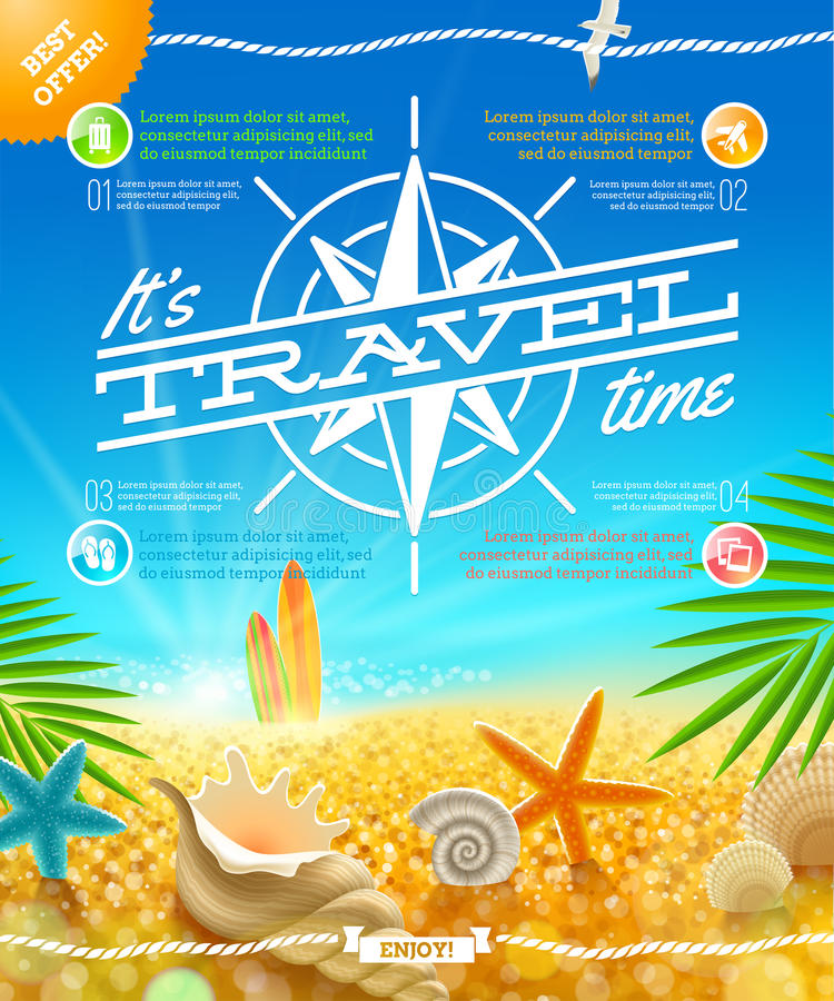 Travel and summer holidays design. Vacation, travel and summer holidays design vector illustration
