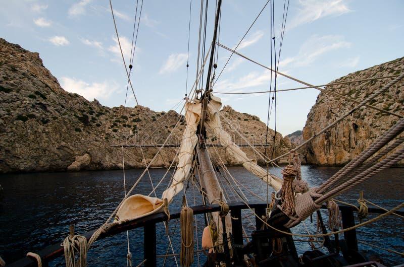 Travel on tall ship stock photos