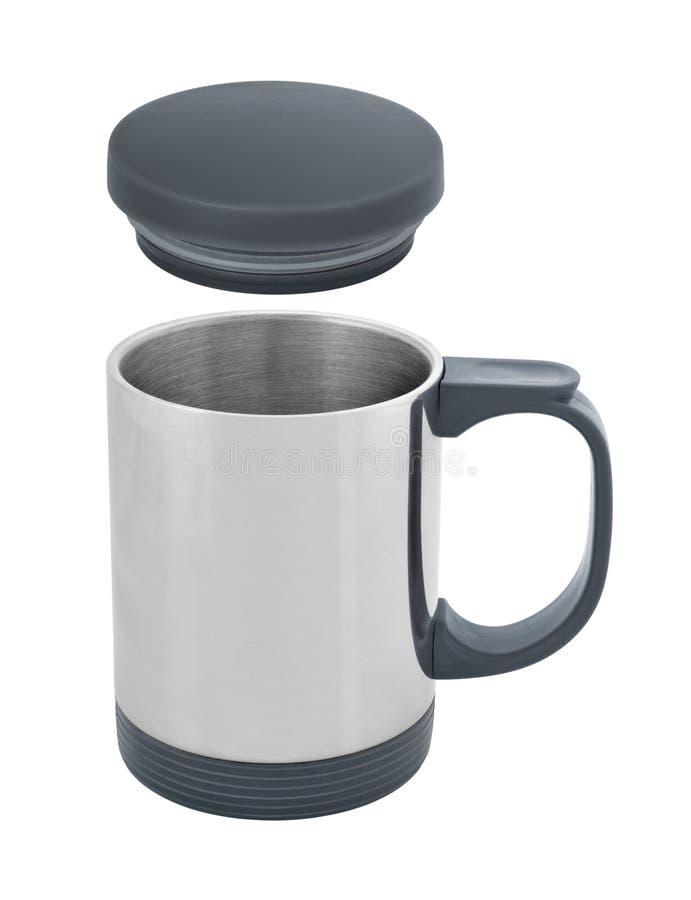 Travel thermal mug cutout royalty free stock photo