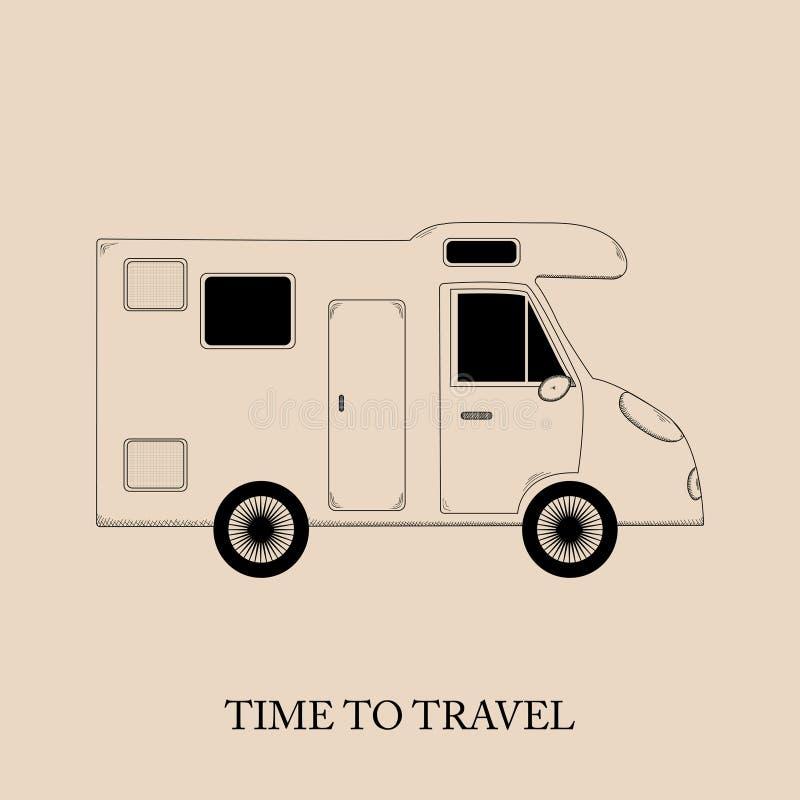 Travel time stock illustration