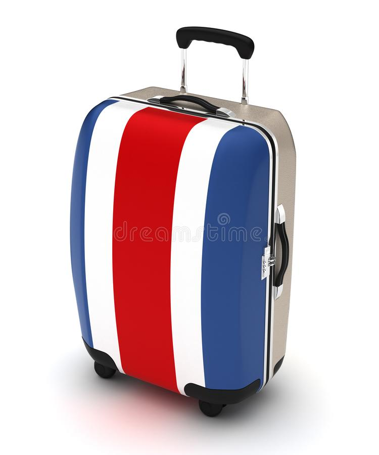 Travel to Costa Rica. Isolated with clipping path stock illustration