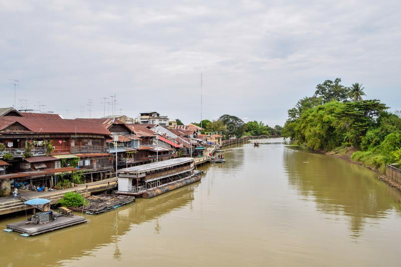 Travel to Country. Landscape picture of Old House of the River bank, RRural tourism, Beautiful background royalty free stock photo