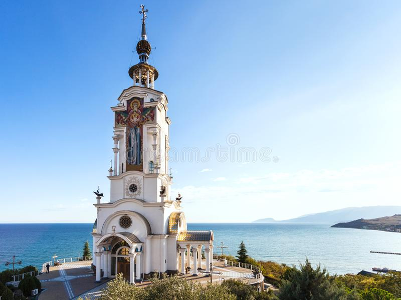Church-lighthouse of St. Nichola in Crimea royalty free stock image
