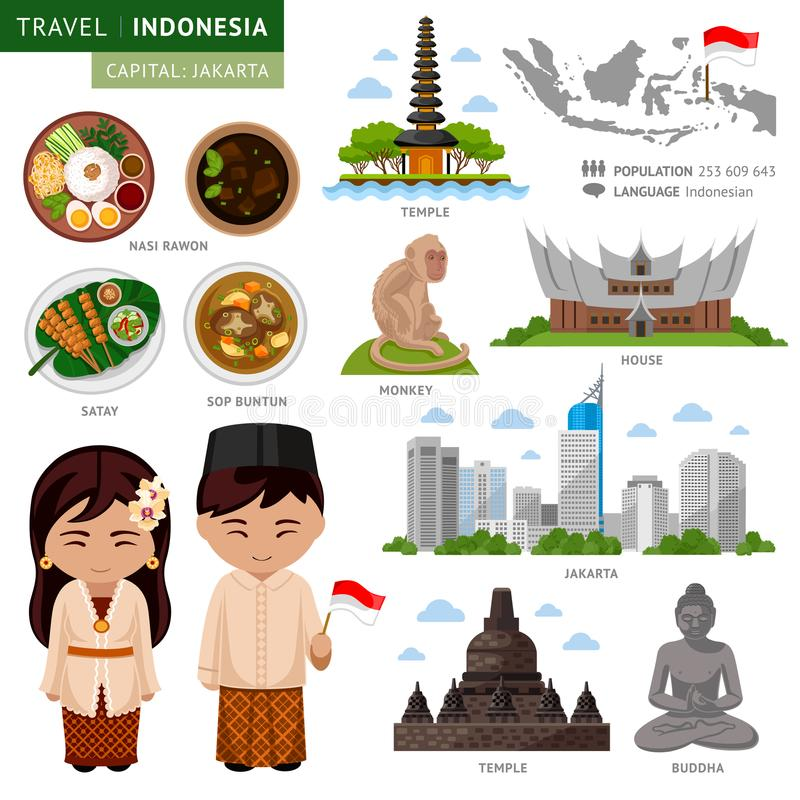 Travel to Indonesia. Bali. royalty free illustration