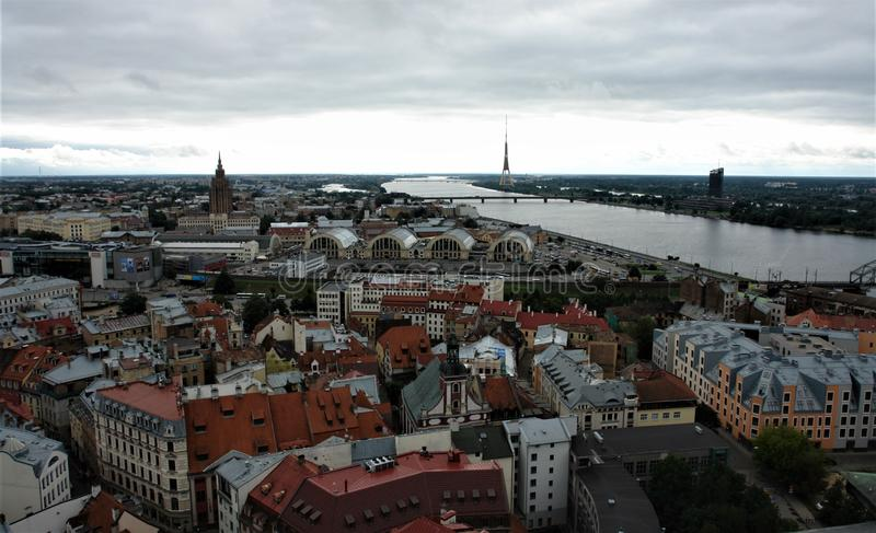 Latvia, Riga, view of the city from above. royalty free stock photo