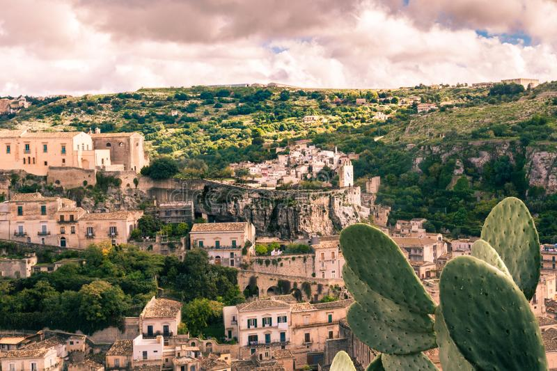 Travel to Modica. Stunning view of the baroque town of Modica, Sicily, Italy