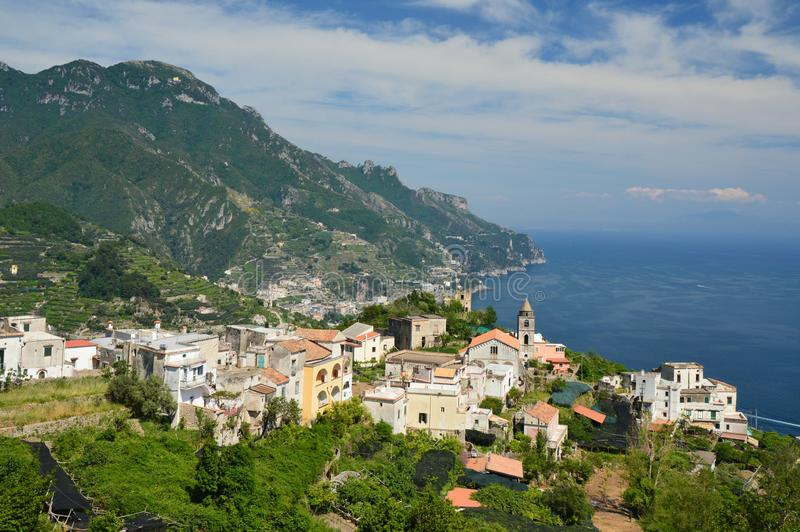 Travel to the small town of Ravello, on the Amalfi coast. royalty free stock images