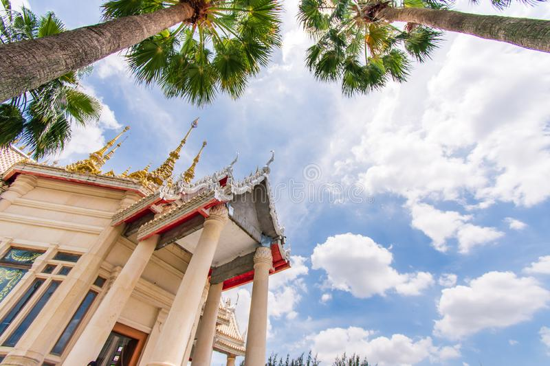 Non Kum Temple or Luang Pho To Temple. Travel to Thailand, Non Kum Temple or Luang Pho To Temple, experience the construction of temples and beautifully royalty free stock photos