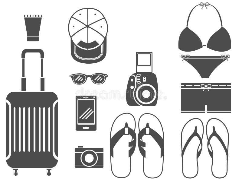 Travel tool equipment set 1 royalty free stock photography