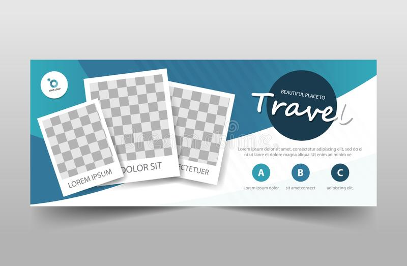 Travel tour corporate business banner template, horizontal advertising business banner layout template sign set , clean abstract. Cover header background for vector illustration