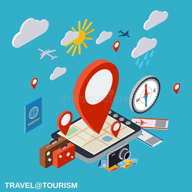 Travel, touring, destination, vacation vector concept vector illustration