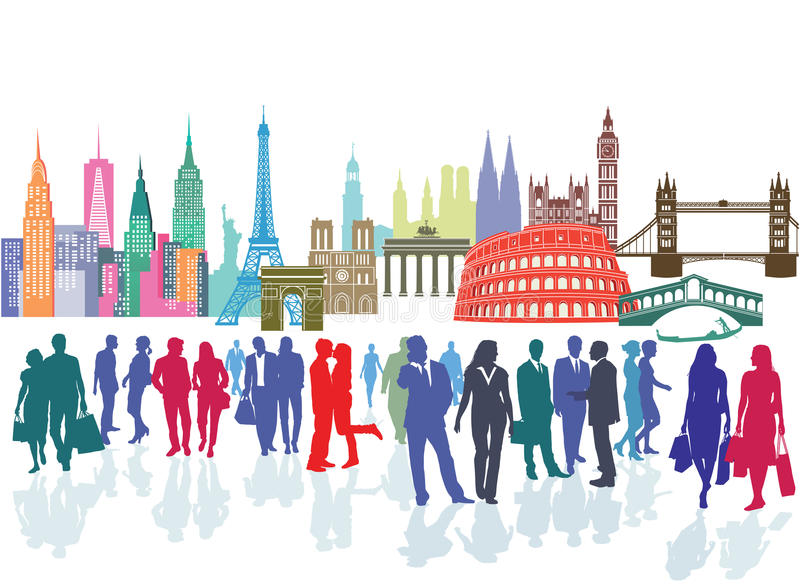 Travel and tourism royalty free illustration
