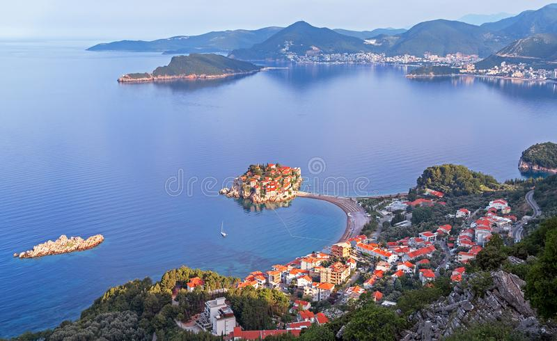 Sveti Stefan Island Architecture Montenegro royalty free stock photography