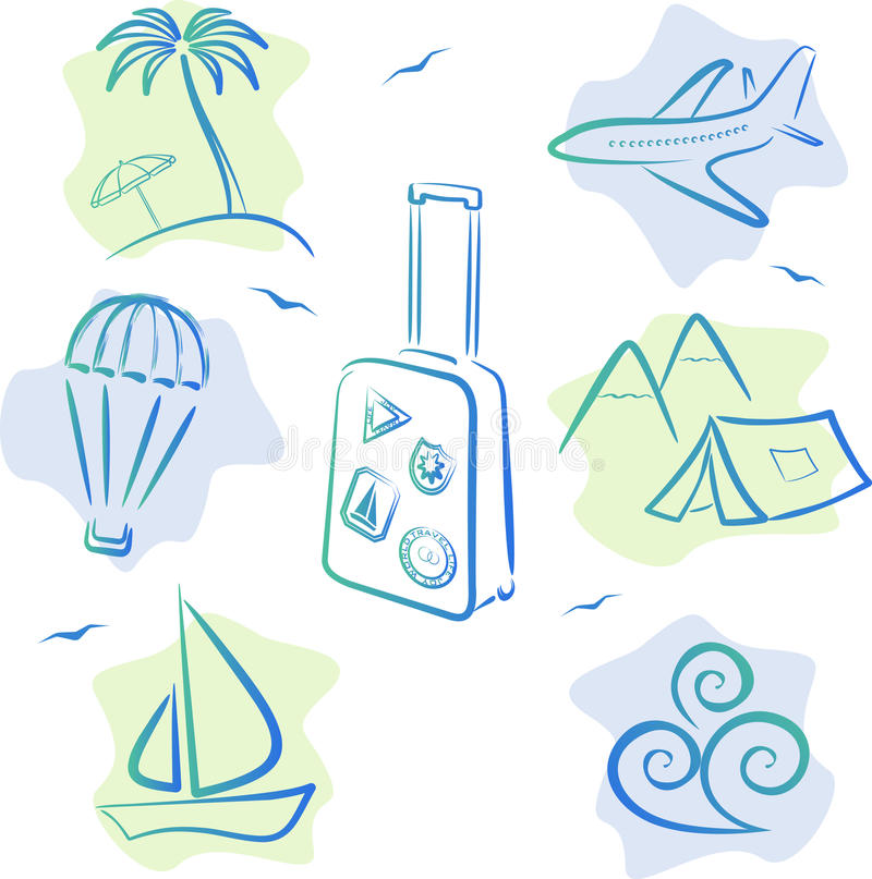 Download Travel and tourism Icons stock vector. Image of symbol - 21191893