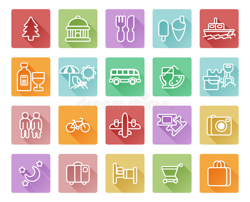 Travel and tourism icons royalty free illustration