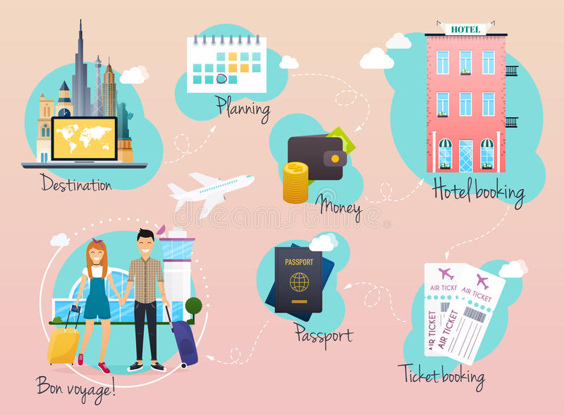 Travel and tourism infographic. Infographics for business, web stock illustration