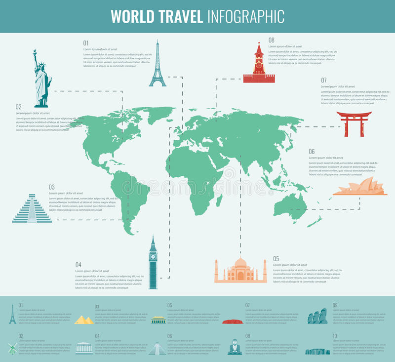 Travel and tourism infographic set with world map and landmarks download travel and tourism infographic set with world map and landmarks vector editorial stock gumiabroncs Choice Image