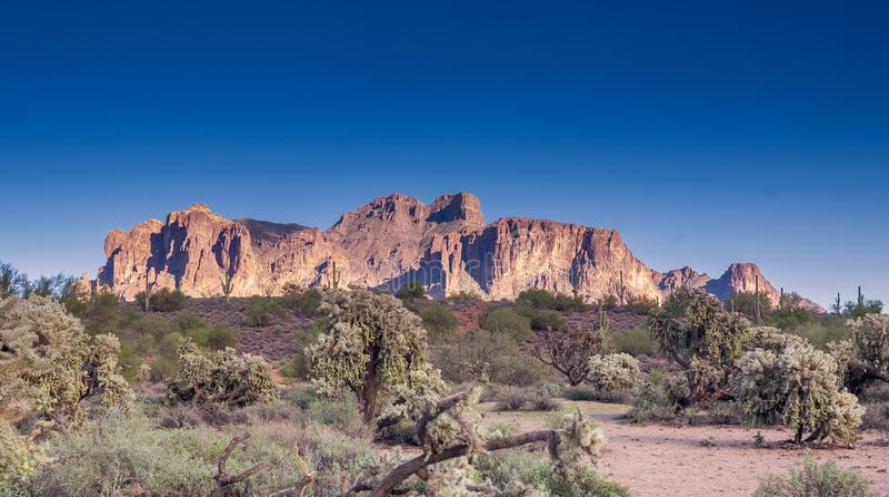 Travel tourism photo of Arizona scenic desert landscape,USA royalty free stock photo
