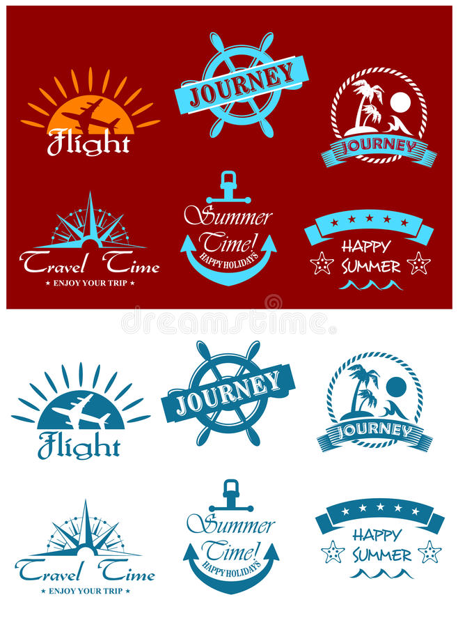 Download Travel and tourism symbols stock vector. Image of banner - 33654372
