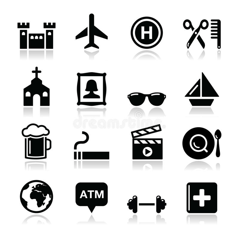 Download Travel Tourism And Transport Icons Set - Stock Illustration - Image: 29320108