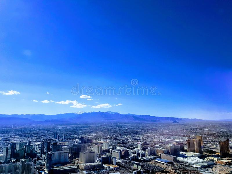 aerial view of the surroundings of the city of Las Vegas, Nevada royalty free stock photos