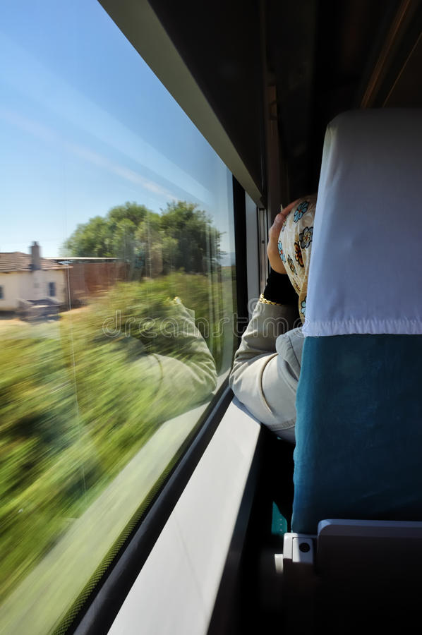 Travel by train royalty free stock photo