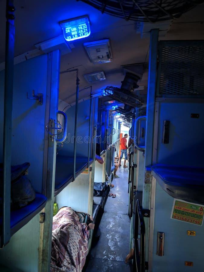 Travel in train stock image