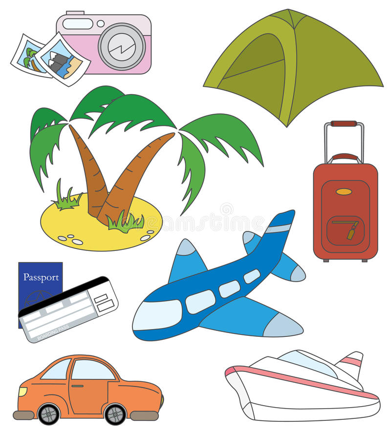 Download Travel And Transport Icons Royalty Free Stock Photography - Image: 12996567