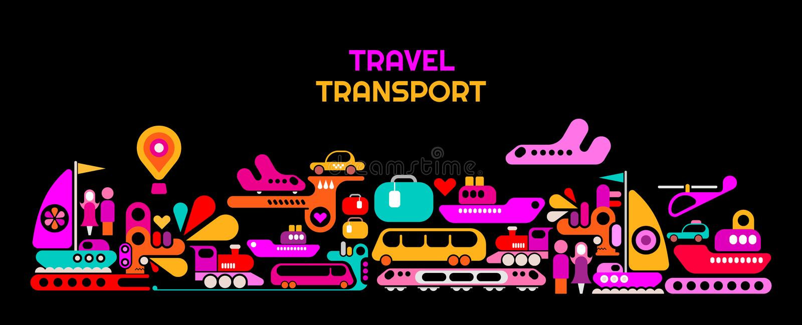 Travel Transport vector illustration stock illustration