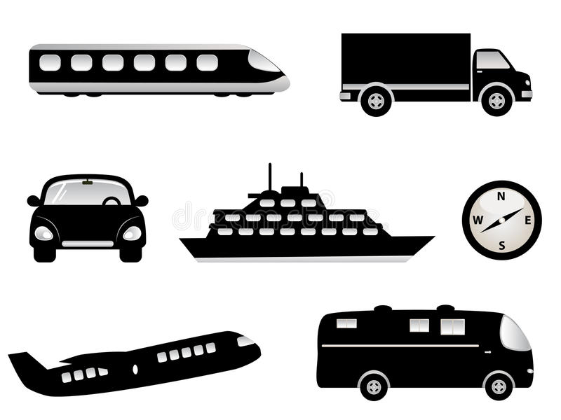 Download Travel, Transportation Icons Stock Vector - Illustration: 17313812