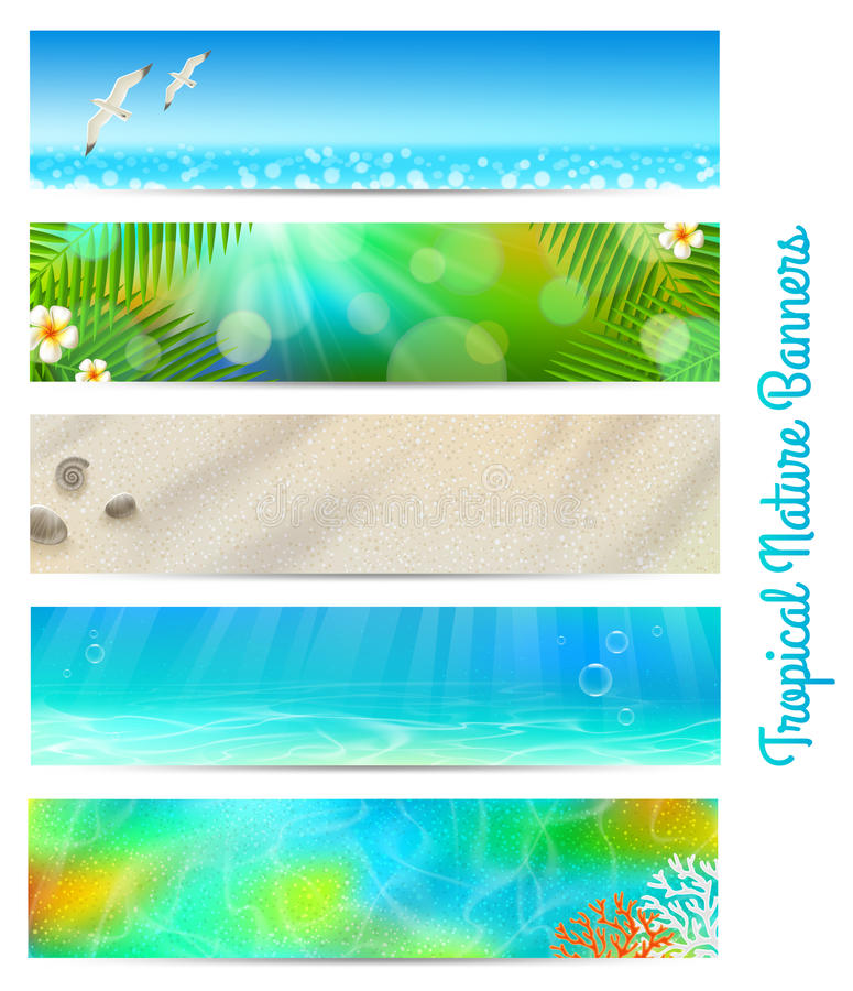 Travel and vacation banners royalty free illustration