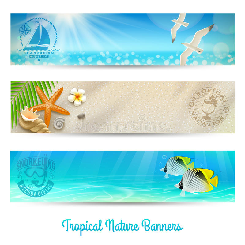 Download Travel And Vacation Banners Stock Vector - Image: 30647558