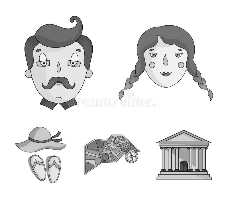 Travel, vacation, camping, map .Family holiday set collection icons in monochrome style vector symbol stock illustration.  vector illustration