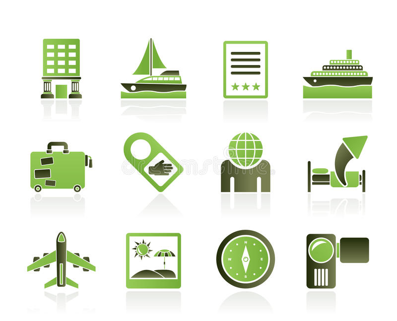 Download Travel, Vacation And Holidays Icon Stock Vector - Illustration: 20281469